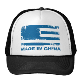America Made in China - Blue Trucker Hat