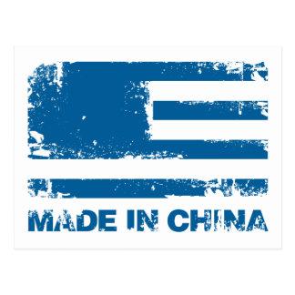 America Made in China - Blue Postcard
