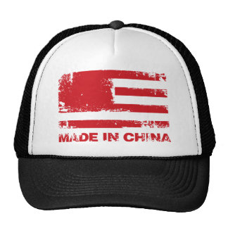 America Made in China - Red Trucker Hat