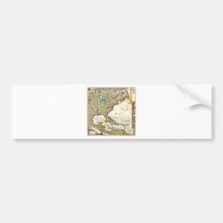 America Map 1773 Bumper Sticker