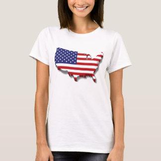 America map flag design T-Shirt