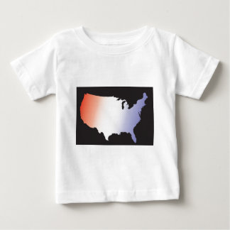 America Map full size Baby T-Shirt