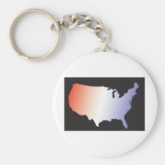 America Map full size Basic Round Button Keychain