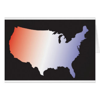 America Map full size Greeting Card