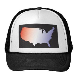 America Map full size Mesh Hat