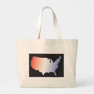 America Map full size Tote Bag