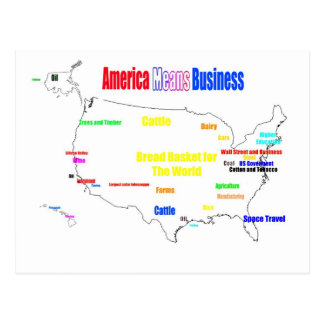 America Means Business Postcard