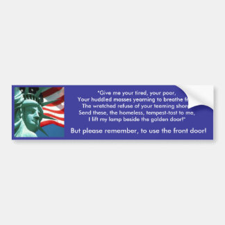 America - Melting Pot Bumper Sticker