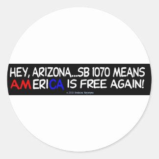 America/Mexico/Freedom Classic Round Sticker