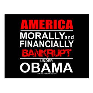 America-Morally & Financially Bankrupt Under Obama Postcard