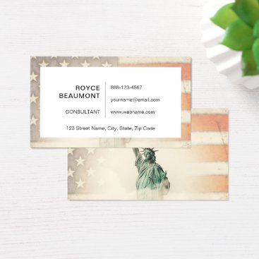 USA Themed America my homeland business card