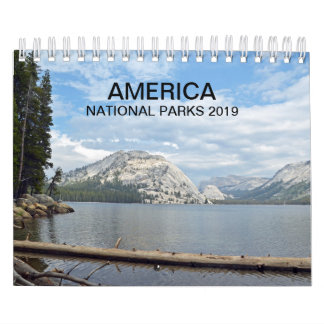 America National Parks nature photo calendar 2019