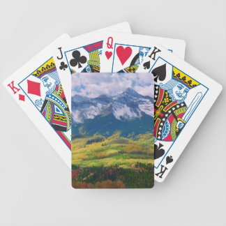 America nature photography bicycle playing cards