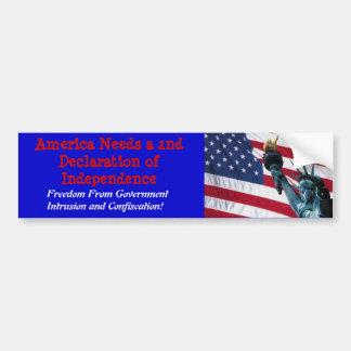 América necesita una 2da Declaración de Independen Pegatina Para Auto