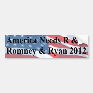America Needs R and R Car Bumper Sticker