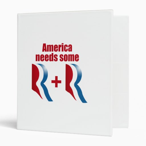 AMERICA NEEDS SOME R AND R.png Vinyl Binders