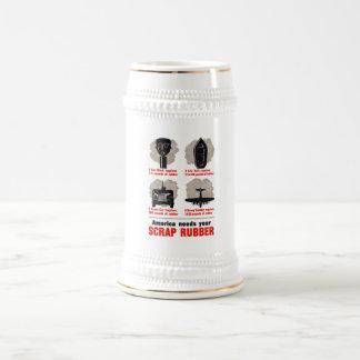America Needs Your Scrap Rubber 18 Oz Beer Stein