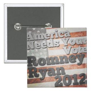 America Needs Your Vote Pins