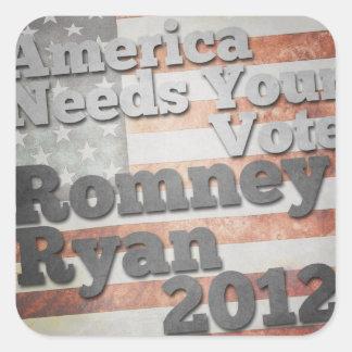 America Needs Your Vote Square Sticker