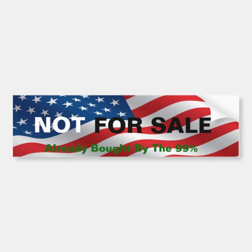 América no está para la venta pegatina para auto