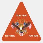 América no se olvida que el triángulo considera so pegatinas trianguladas personalizadas