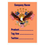 America Not Forgotten 2 Card Business Vert. Notes Business Card Template