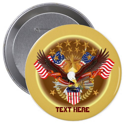America Not Forgotten Set 2 See Notes 4 Inch Round Button