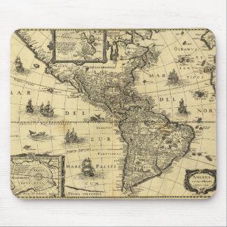 America Noviter Delineata Map (1640) Mouse Pad