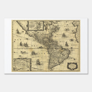 America Noviter Delineata Map (1640) Sign