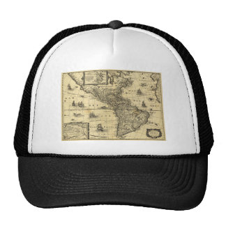 America Noviter Delineata Map (1640) Trucker Hat