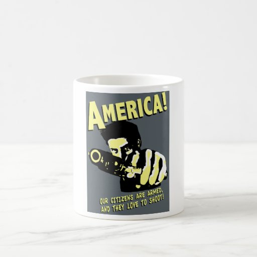 ¡América! nuestros ciudadanos son armados, y aman  Taza De Café