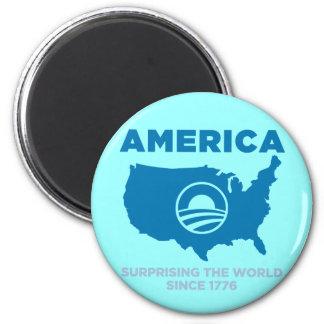 America Obama 2 Inch Round Magnet