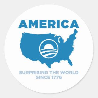America Obama Classic Round Sticker