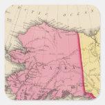 América occidental del norte calcomanía cuadrada personalizada