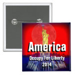 america occupy for liberty 2014 pinback button