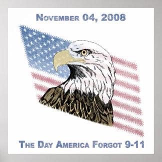 América olvidó 9-11 póster