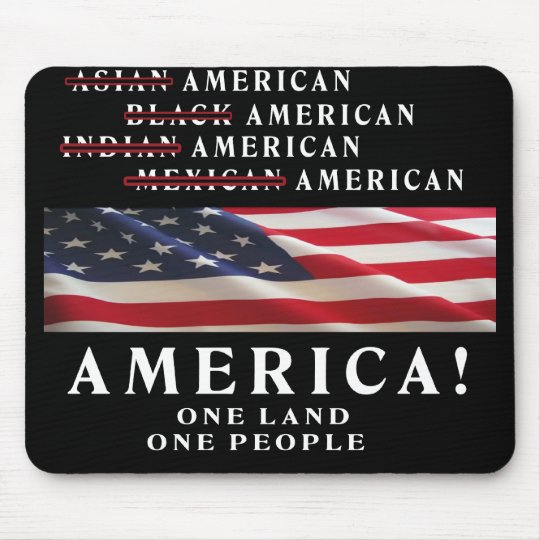 AMERICA - ONE LAND - ONE PEOPLE - USA MOUSE PAD