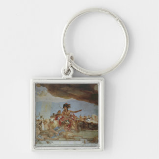 America, one of the Four Continents Keychain