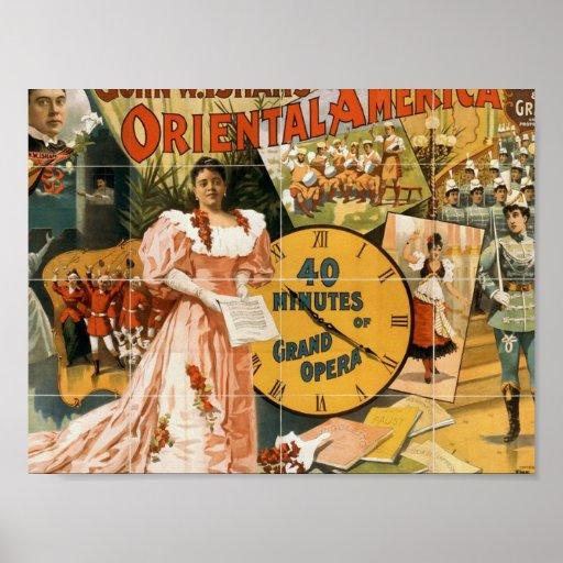 """América oriental, de """"vintage de la gran ópera 40  poster"""