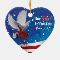 america, jesus, blood, prayer, god, bible, trust, ornament, Ornament with custom graphic design