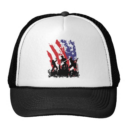 América oscila - la bandera punky de los E.E.U.U. Gorras De Camionero