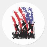 América oscila - la bandera punky de los E.E.U.U. Pegatinas Redondas