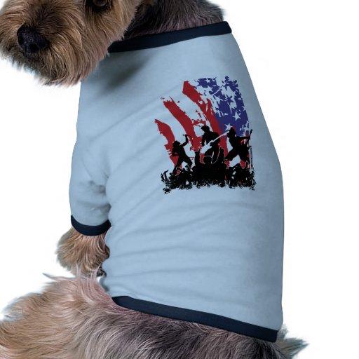 América oscila - la bandera punky de los E.E.U.U.  Camisetas De Perrito