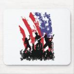 América oscila - la bandera punky de los E.E.U.U.  Alfombrilla De Ratones