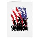 América oscila - la bandera punky de los E.E.U.U.  Tarjeton
