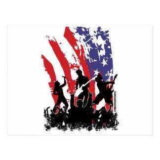 América oscila - la bandera punky de los E.E.U.U.  Tarjetas Postales