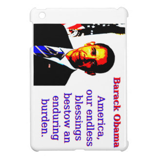 America Our Endless Blessings - Barack Obama Cover For The iPad Mini