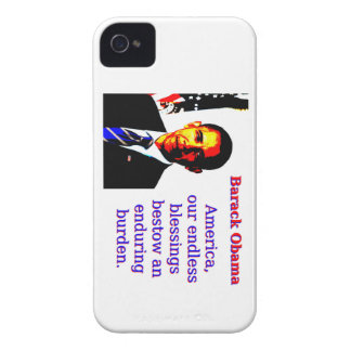 America Our Endless Blessings - Barack Obama iPhone 4 Case-Mate Case