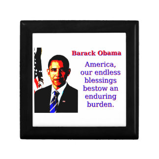 America Our Endless Blessings - Barack Obama Jewelry Box