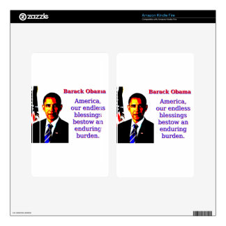 America Our Endless Blessings - Barack Obama Kindle Fire Skin